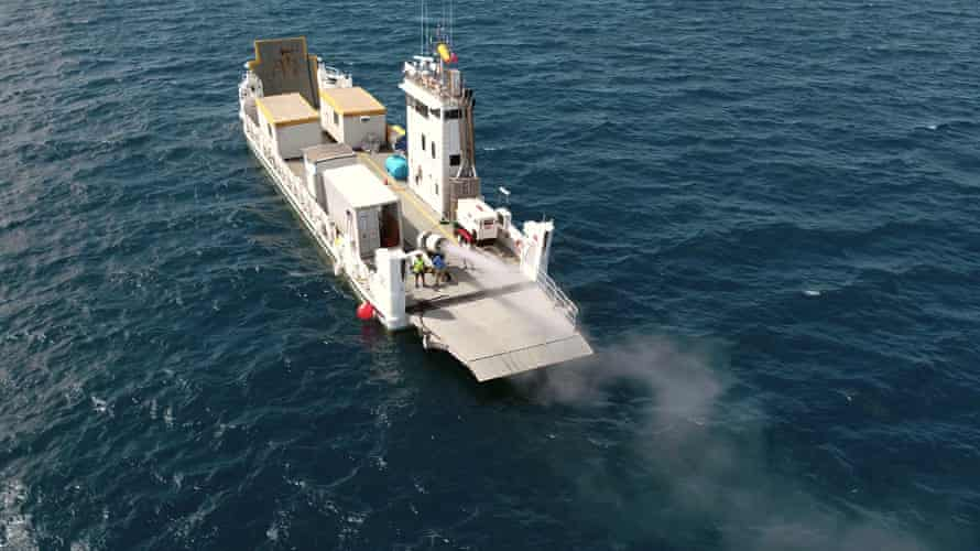 Scientists have carried out a trial of prototype cloud brightening equipment on the Great Barrier Reef
