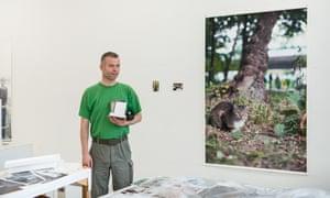 Wolfgang Tillmans in his studio
