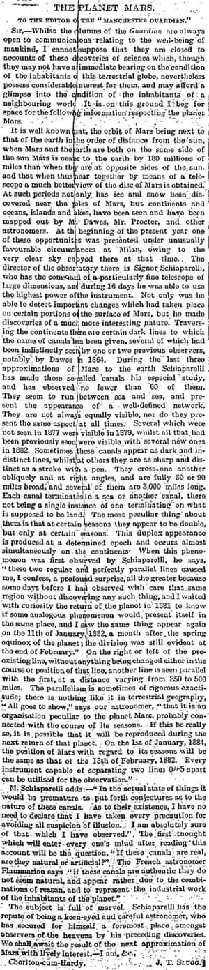 Manchester Guardian, 4 September 1882.