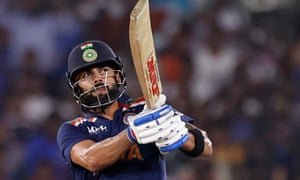 Virat Kohli hits a six to win the match.