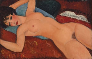 Reclining Nude, by Amedeo Modigliani.