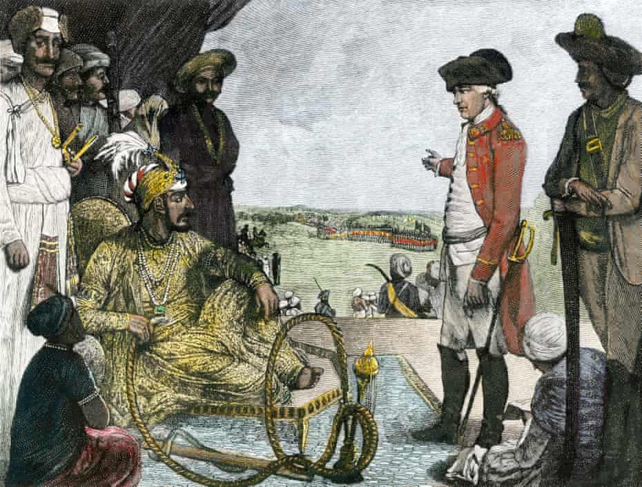 Shah Allum Mogul of Hindostan reviewing troops of the British East India Company 1781.