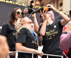 It has been a nonstop party for the team since their victory, with celebrations in the locker room, on the streets of France, on the plane home and now back in the United States