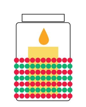 Christmas decoration repurpose: candle holder.
