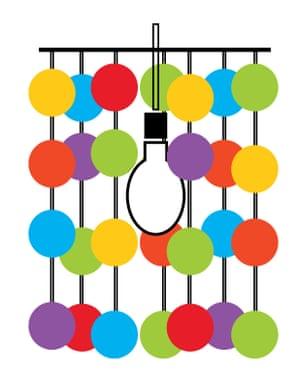 Christmas decoration repurpose: chandelier.