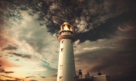 Flamborough Head lighthouse in Yorkshire.