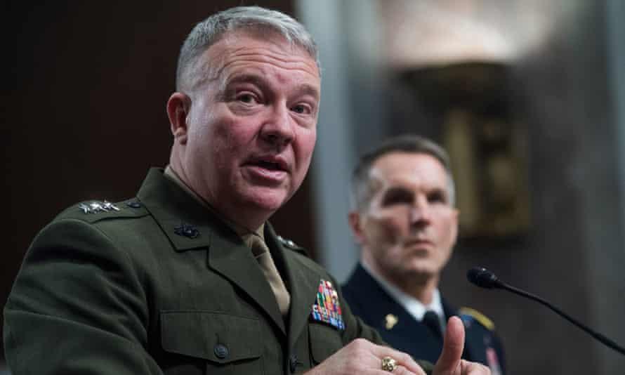 Gen Frank McKenzie testifies in Washington DC, on 4 December 2018.