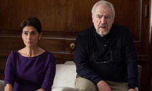 'People are fascinated by power and money' ... Hiam Abbass and Brian Cox in Succession.