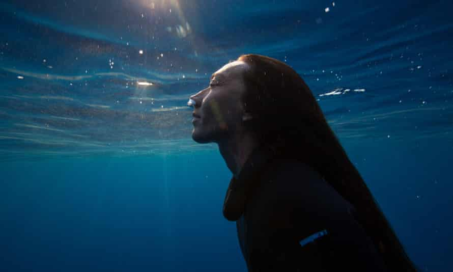 Artist Martina Amati is one of the freedivers in the film