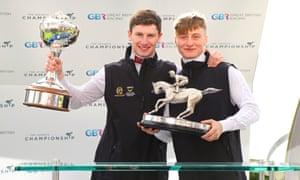 Champion Jockey Oisin Murphy & champion apprentice Cieren Fallon at Ascot.