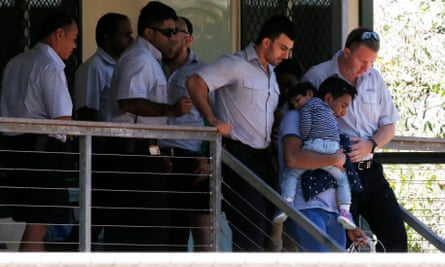 The Tamil family are removed from the Mercure Hotel in Darwin in August 2019
