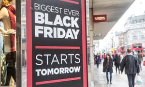 Black Friday sale poster in London