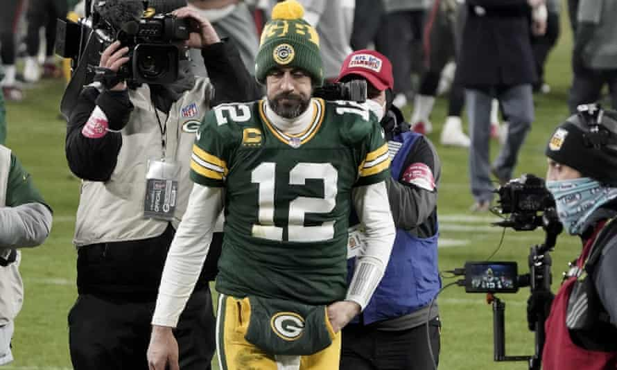 Aaron Rodgers after the Packers' loss in this year's NFC championship game