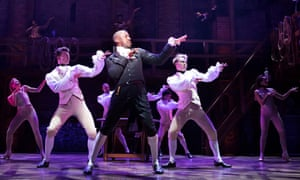 Salieri to Hamilton's Mozart … Giles Terera (Aaron Burr) with the West End cast of Hamilton.