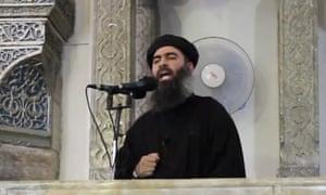 Abu Bakr al-Baghdadi in July 2014.