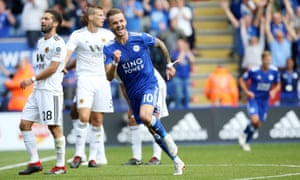 James Maddison celebrates after scoring his first Premier League goal for Leicester against Wolves on Saturday.
