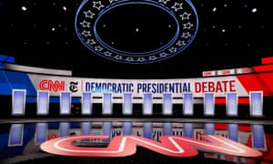 The stage is set for the debate in Westerville, Ohio.