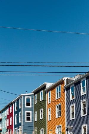 Row of colourful houses, St Johns, Newfoundland, Canada
