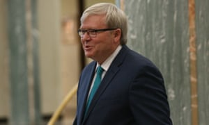 Kevin Rudd last month in Canberra
