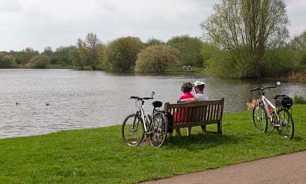 Watermead Country Park in Leicestershire, England