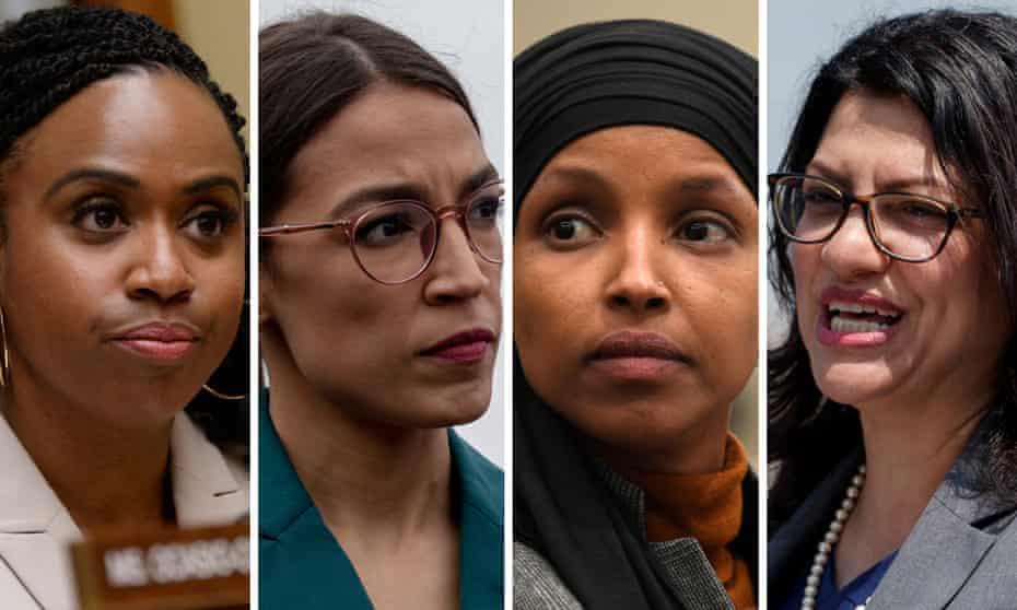 Ayanna Pressley, Alexandria Ocasio-Cortez, Ilhan Omar and Rashida Tlaib