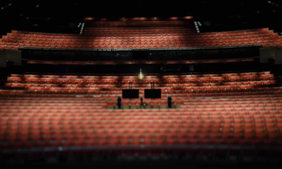 Empty seats at the Sydney Opera House.