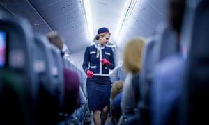 Norwegian Air flight attendant.