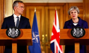 Theresa May with Jens Stoltenberg, the Nato secretary general