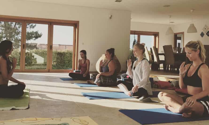 Students at Shamballah Yoga Retreat, Portugal