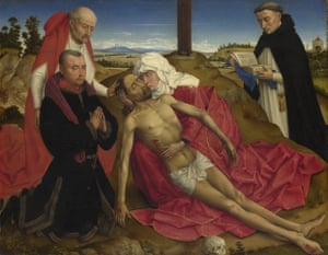 NG6265 Probably by the workshop of Rogier van der Weyden, Pietà, probably about 1465 © The National Gallery, London. For Masterpiece of the Week only
