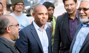 Marvin Rees, centre.