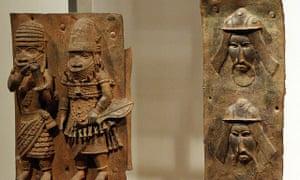 Benin bronzes on display at the British Museum