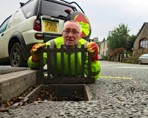 Archie Workman is busy with blocked drains at this time of year.