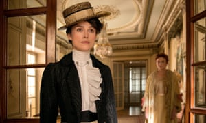 Keira Knightley, left, with Eleanor Tomlinson in Colette