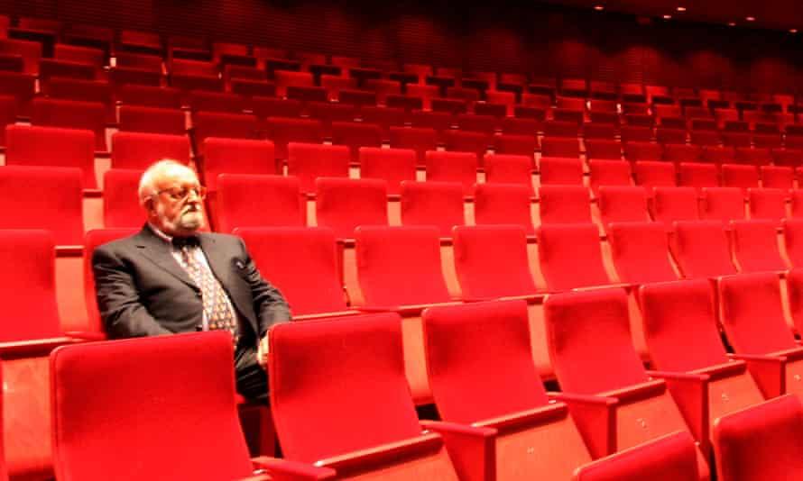 Krzysztof Penderecki at the Kraków opera house in 2008.