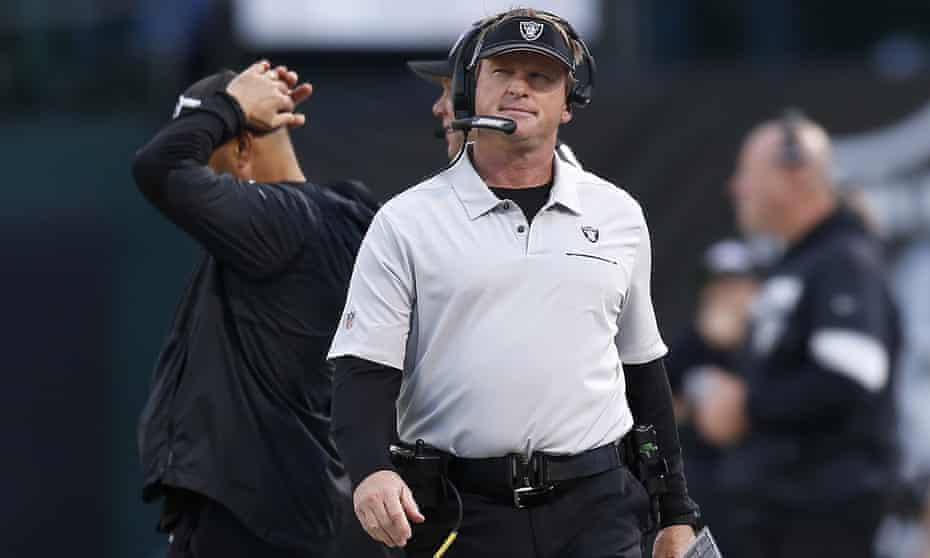 Jon Gruden became Raiders head coach in 2018