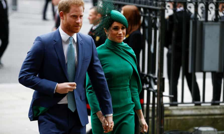 Harry and Meghan at Westminster Abbey in London in March 2020