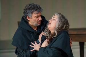 Peak form… Jonas Kaufmann and Anna Netrebko in Royal Opera's La forza del destino.