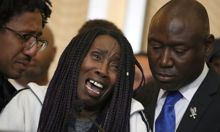 Sequita Thompson, the grandmother of Stephon Clark, during a news conference in Sacramento, California.