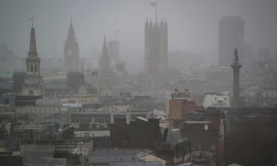 Foggy London day