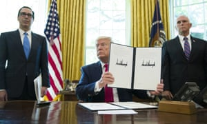 Donald Trump with a signed executive order to increase sanctions on Iran: 'Deploying phony, rhetorical offers of talks at the same time as imposing devastating sanctions will not make Iran yield.'