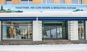 A shop in Davos, venue of the 2018 World Economic Forum.