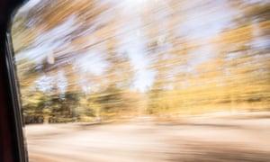 countryside blur