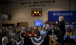 Hillary Clinton speaks at a campaign event in Milwaukee, Wisconsin on March 28, 2016.