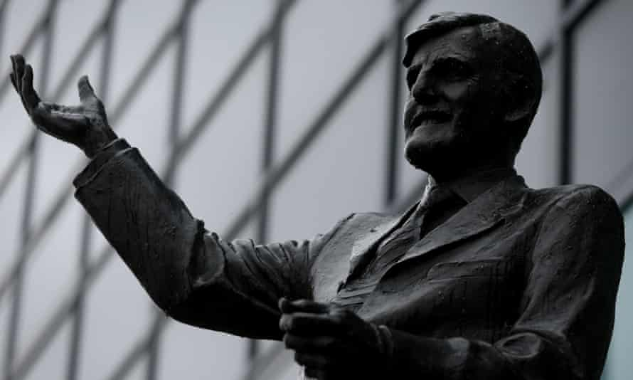 The Jimmy Hill statue near the Ricoh Arena, Coventry.