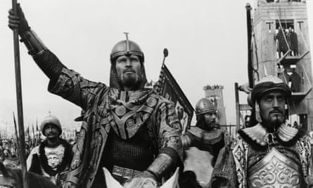 Douglas Wilmer, right, with Charlton Heston in El Cid, 1961.