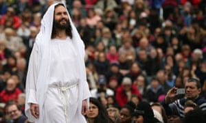 The Wintershall's 'The Passion of Jesus' is performed in front of crowds on Good Friday in Trafalgar Square
