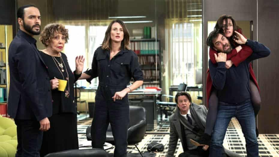Cottin as Andréa, centre, in the third season of Call My Agent!