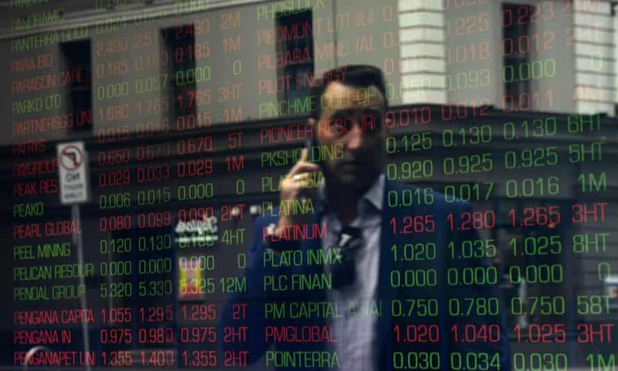 Digital market boards at the Australian Stock Exchange (ASX) in Sydney