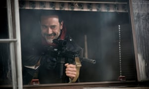 Negan is absolutely terrifying, not least because he was channelling the hideous leering rictus of Killer Bob from Twin Peaks.